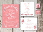Rustic Weding invite set