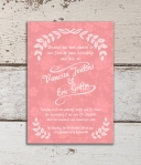 Rustic Coral Wedding Invite