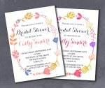 Rustic Bright Pastel Floral Bridal Shower Invite