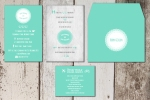 Modern Green retro invite