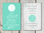 Modern Green Retro Wedding Invite