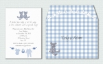 Blue Baby Boy Shower Invite