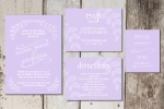 Purple Rustic Invite