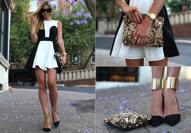 Lookbook black and white with gold
