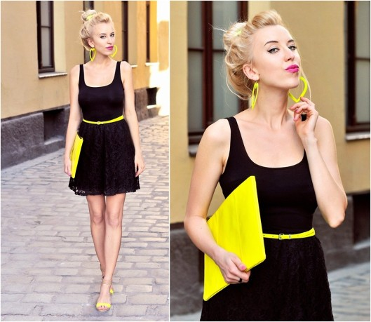 Black & Neon Yellow