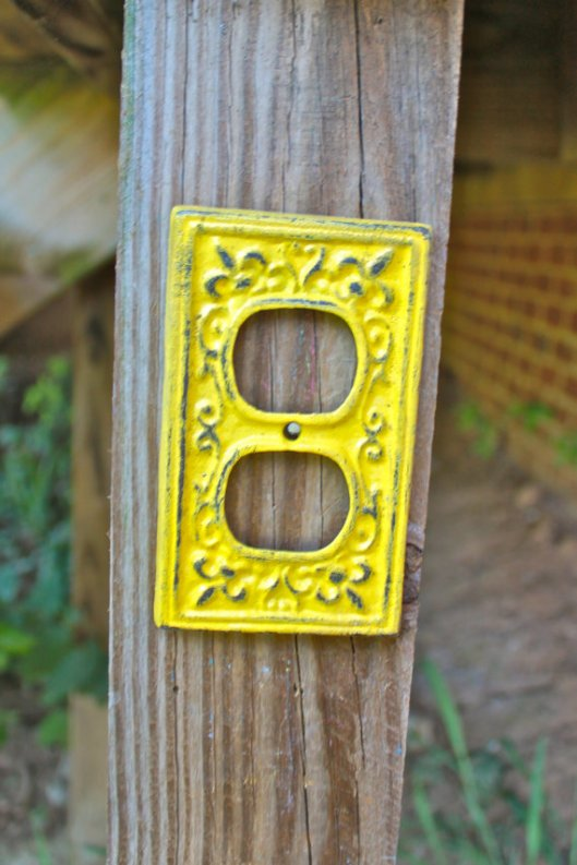 Neon Yellow light switch cover