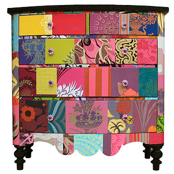 colouful chest of drawers