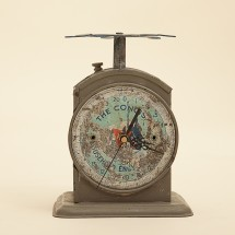 vintage old clock scale