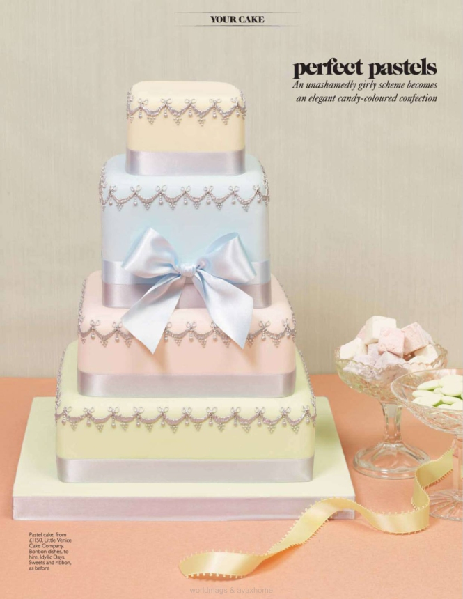 Pastel coloured layered cake