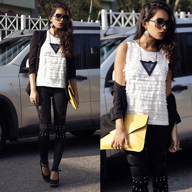 black and white look_fashion