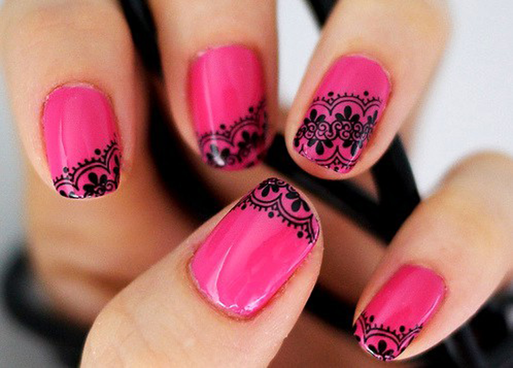 Hot Nail Designs Pictures : Sexy pink nails tomuch