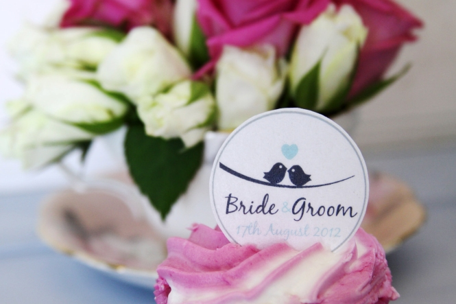 Birdie Cup Cake Wedding Topper