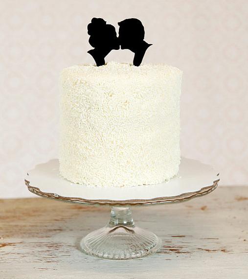 Cake Topper B&W