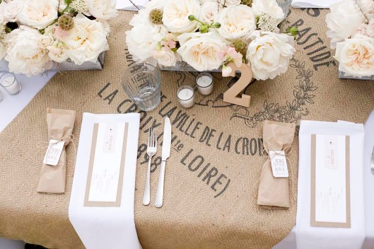 Centerpiece and table setting Rustic