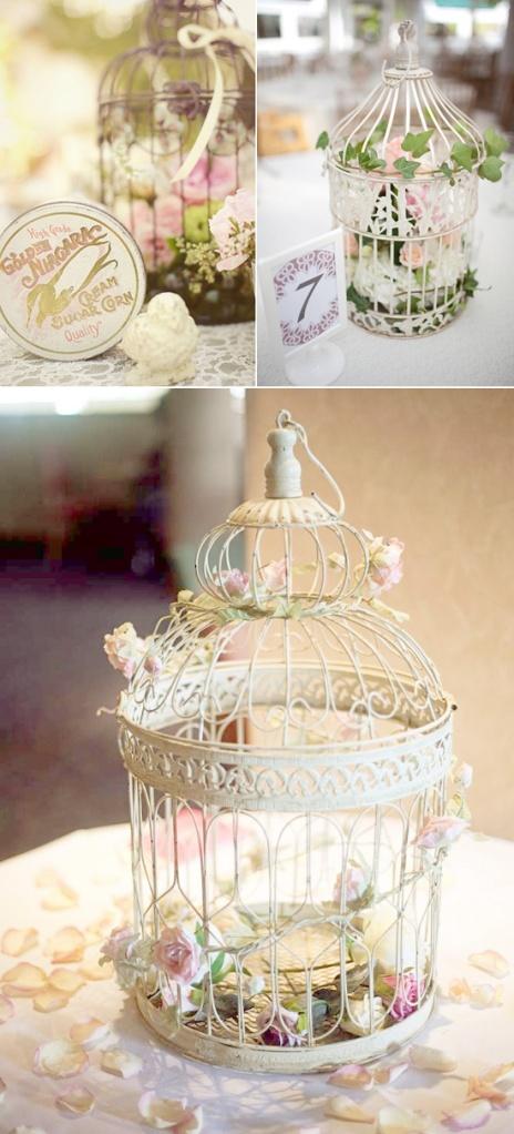 Centerpiece birdcage vintage