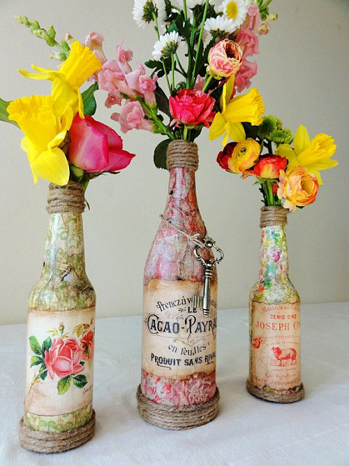 Colourful Vintage centerpiece DIY