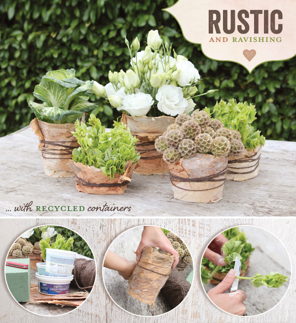 Rustic wood centerpiece DIY