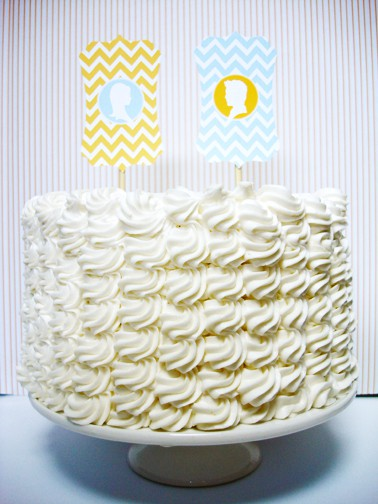 Yellow Cake Topper