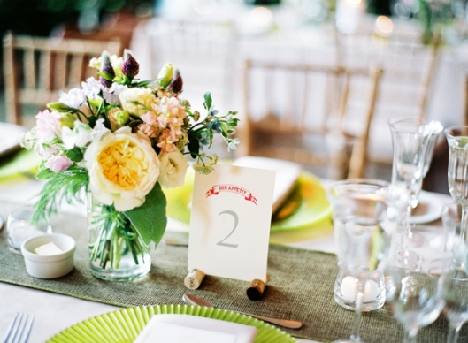 Yellow modern centerpiece