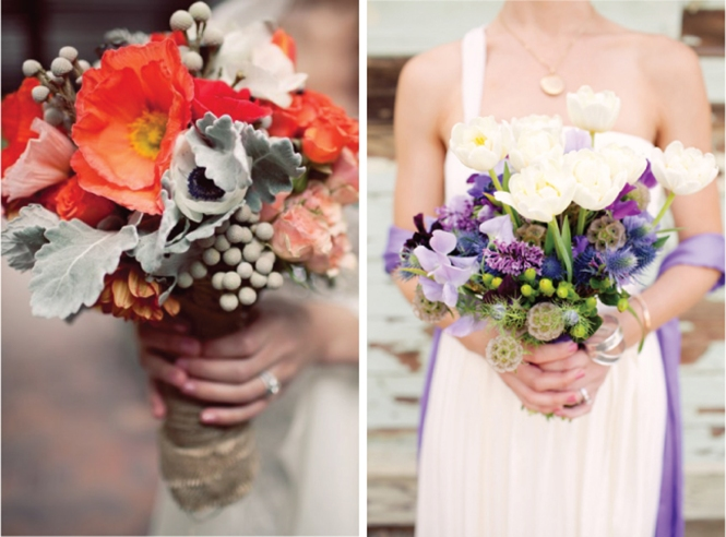 Colourful-modern-wedding-bouquets