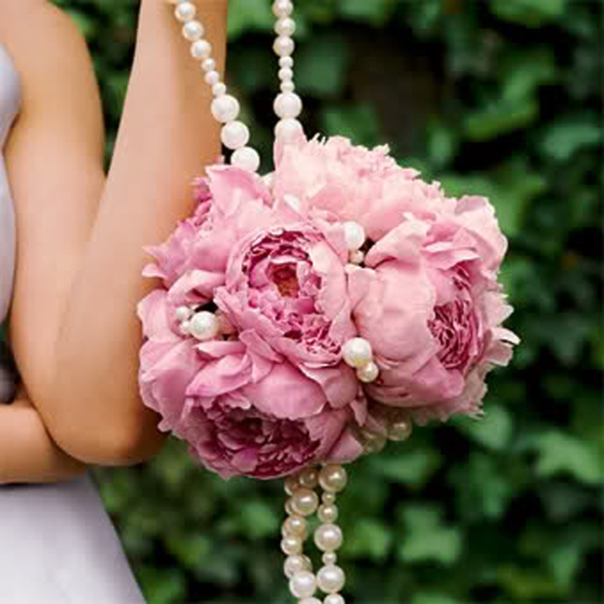 Hanging pink jewel bouquet