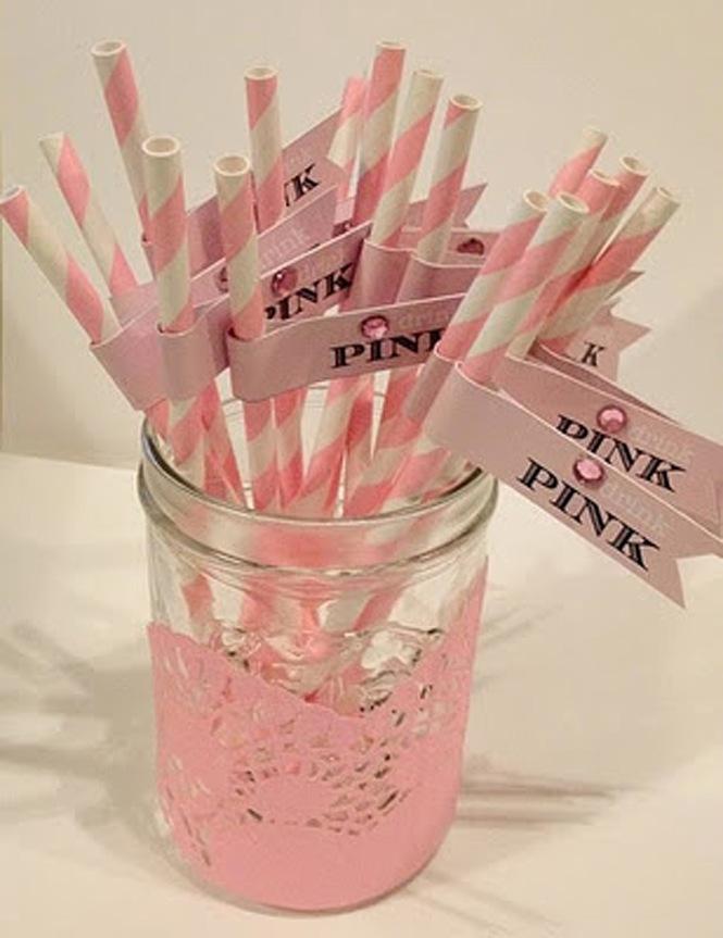 Pink drink straws