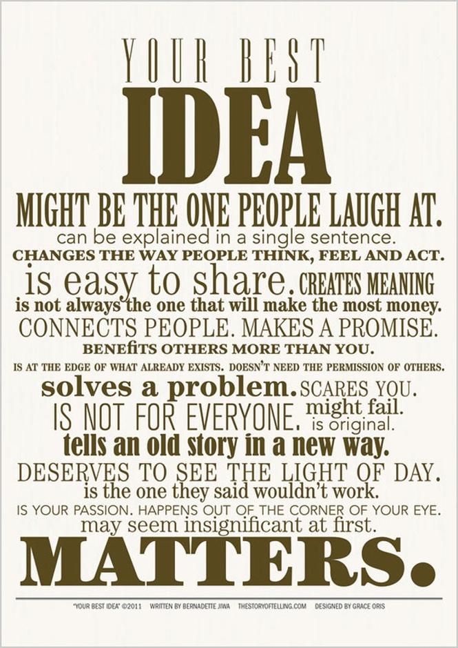 Best Idea quote