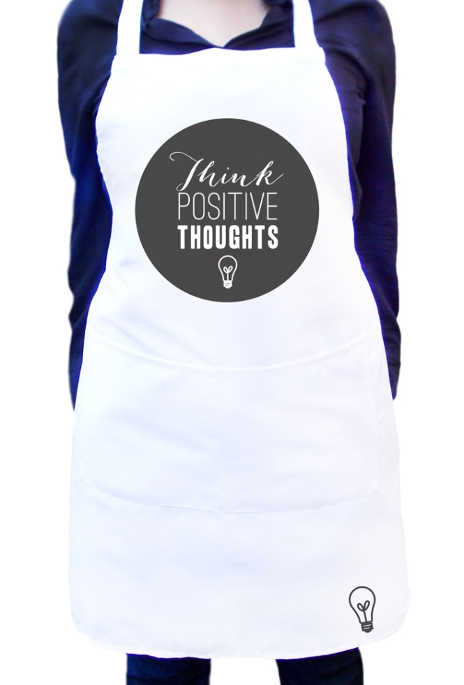 Custom Ladies Apron_Positive Thoughts